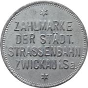 10 pfennig - Zwickau (Zahlmarke der Städt. Strassenbahn) – avers