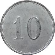 10 pfennig - Zwickau (Zahlmarke der Städt. Strassenbahn) – revers