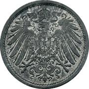 10 pfennig - Wilhelm II (type 2 - grand aigle, sans atelier) -  avers