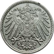 5 pfennig - Wilhelm II (type 2 - grand aigle) -  avers