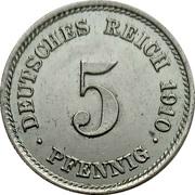 5 pfennig - Wilhelm II (type 2 - grand aigle) -  revers