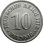 10 pfennig - Wilhelm II (type 2 - grand aigle) -  revers
