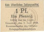 1 Pfennig (Graudenz; PoW Camp) – avers