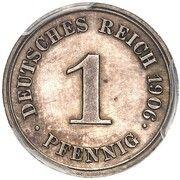 1 Pfennig - Wilhelm II (Pattern) – revers