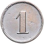 1 Pfennig - Wilhelm I (Pattern) – revers