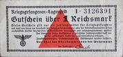 1 Reichsmark (camp de prisonniers) – avers