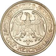 5 reichsmark -  avers