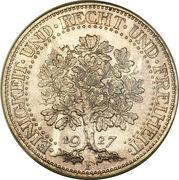 5 reichsmark -  revers