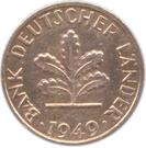 1 pfennig (Bank deutscher Länder) – avers