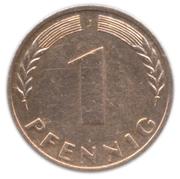 1 pfennig (Bank deutscher Länder) -  revers