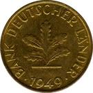 10 pfennig (Bank Deutscher Länder) – avers