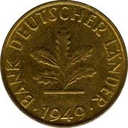 10 pfennig (Bank Deutscher Länder) -  avers