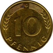 10 pfennig (Bank Deutscher Länder) – revers