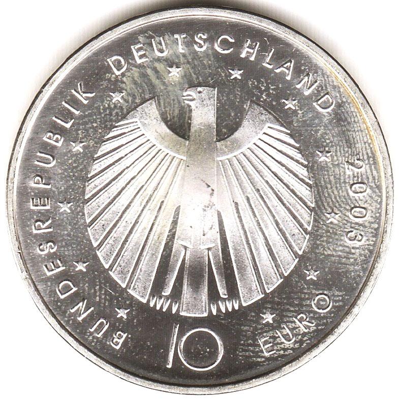 10 euros coupe du monde 2006 edition 2003 allemagne r publique f d rale numista - Coupe a 10 euros grenoble ...