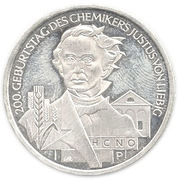 10 euros Julius Von Liebig – revers