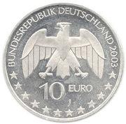 10 euros Julius Von Liebig – avers