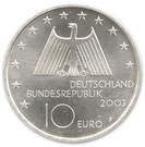 10 euros Industries de la Rhur – avers
