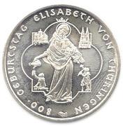 10 euros Elisabeth de Thuringe – revers
