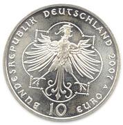 10 euros Elisabeth de Thuringe – avers