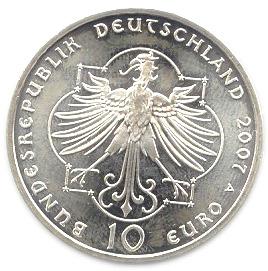 10 Euros Elisabeth De Thuringe Allemagne République Fédérale