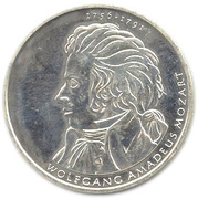 10 euros Wolfgang Amadeus Mozart – revers