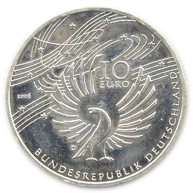 10 Euros Wolfgang Amadeus Mozart Allemagne République Fédérale
