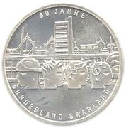 10 euros Sarre – revers