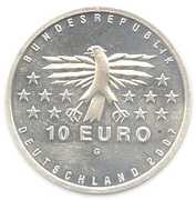 10 euros Sarre – avers