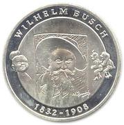 10 euros Wilhelm Busch – revers