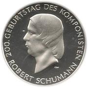 10 euros Robert Schumann – revers