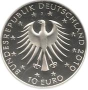 10 euros Robert Schumann – avers