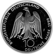 10 deutsche mark (Weimar - capitale culturelle de l'Europe) – avers