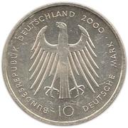 10 deutsche mark Dom Aachen – avers