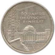 10 deutsche mark Unité allemande – revers