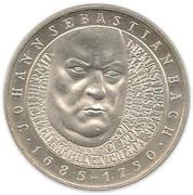 10 deutsche mark Johann Sebastian Bach – revers
