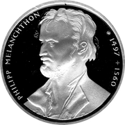 10 deutsche mark Philipp Melanchthon – revers