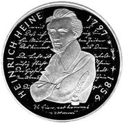 10 deutsche mark Heinrich Heine – revers