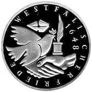 10 deutsche mark Paix de Westphalia – revers