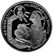 10 deutsche mark Hildegard von Bingen – revers