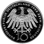 10 deutsche mark Hildegard von Bingen – avers