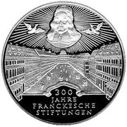 10 deutsche mark Fondation Francke de Halle – revers