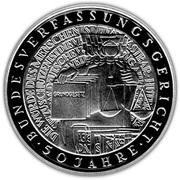 10 deutsche mark 50 ans de la Cour constitutionnelle allemande – revers