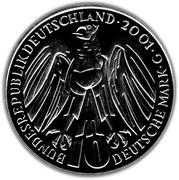 10 deutsche mark 50 ans de la Cour constitutionnelle allemande – avers