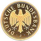 1 deutsche mark (Or) – avers