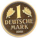 1 deutsche mark (Or) – revers