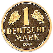 1 deutsche mark (Or) – revers
