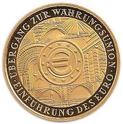 100 euros Introduction de l'euro – revers