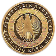 100 euros Introduction de l'euro – avers