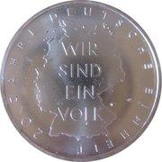 10 euros Réunification allemande -  revers
