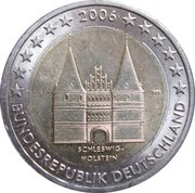 2 euros Schleswig-Holstein – avers